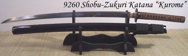 Cheness Shobu Zukuri - Kurome 9260 Spring Steel Katana