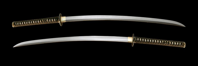 Dynasty Forge 28.5`` Bushi F/F Tri-Steel Shobu Katana in Cherry Blossom Theme