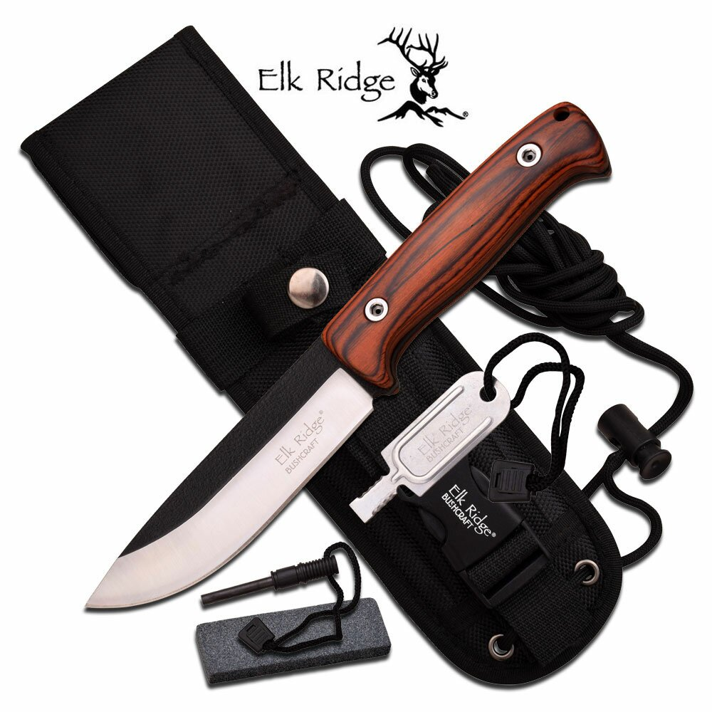 Elk Ridge Survival Fixed Blade Knife 10.5'' Overall