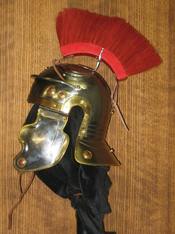 Imperial Gallic H Helmet, Red Crest
