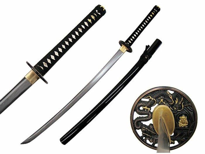 Katana Masahiro Damascus Sword Dragon Tsuba