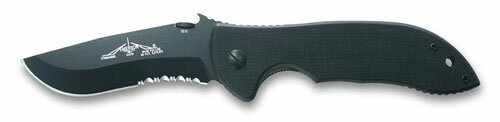 Knife Emerson Commander Black Serrated