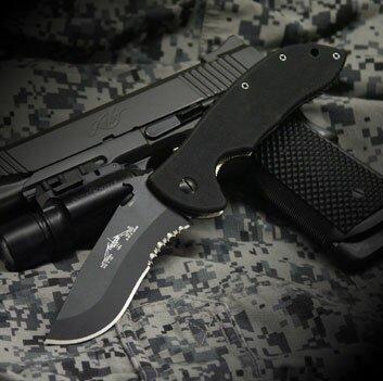 Knife Emerson Super Commander Black Serrated