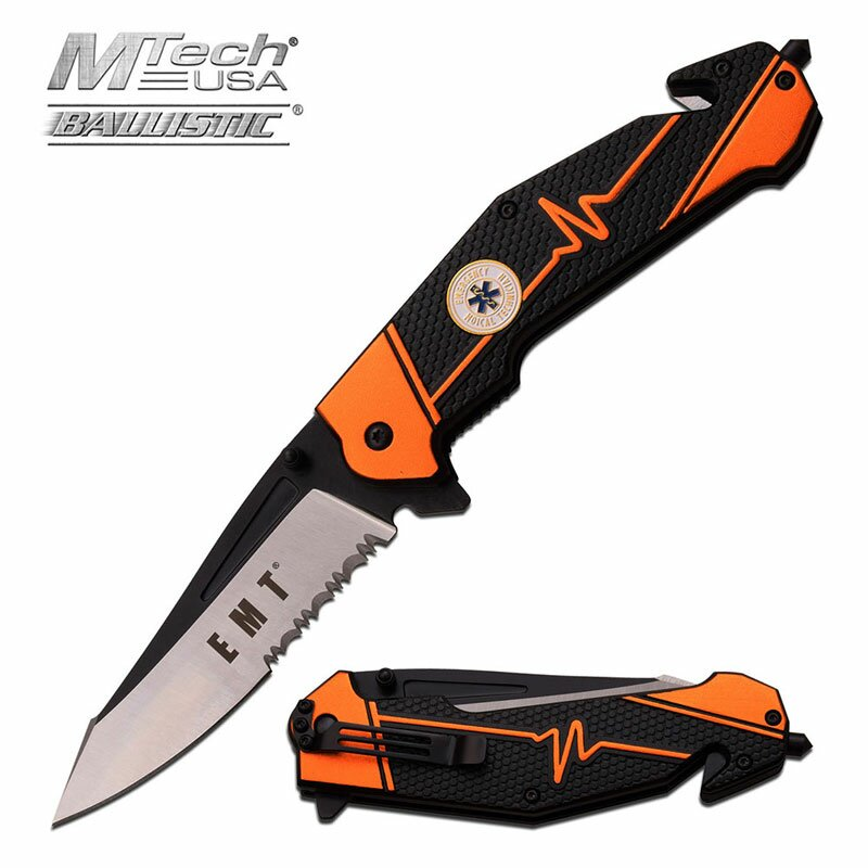 Knife M-Tech Ballistic Emergency Spring Assisted