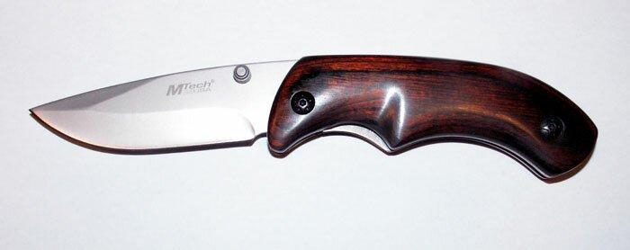 Knife M-Tech Folder Pakka Wood