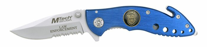 Knife M-Tech Law Enforcement Rescue Knife Blue