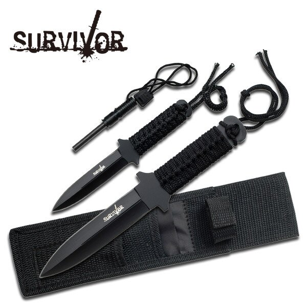 Knife Master Cutlery Military Set w Fire Starter