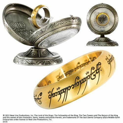 LOTR One Ring Stainless Steel - Gold colour
