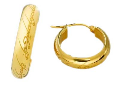 Lord of the Rings Earrings The One Ring (gold plated)