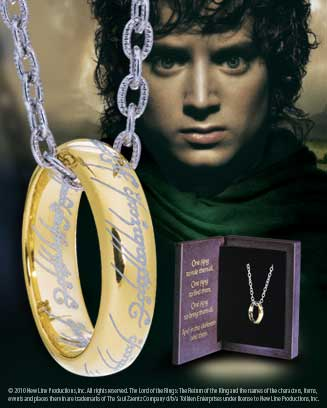 Lord of the Rings Ring with Chain The One Ring (Sterling Silver)