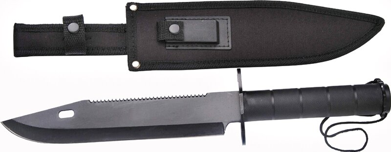 Master Cutlery Survival Knife Black