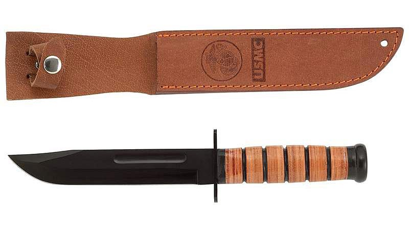 Mossberg Military Leather Handle Fixed Blade