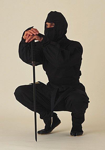 Ninja Uniform - Black Deluxe
