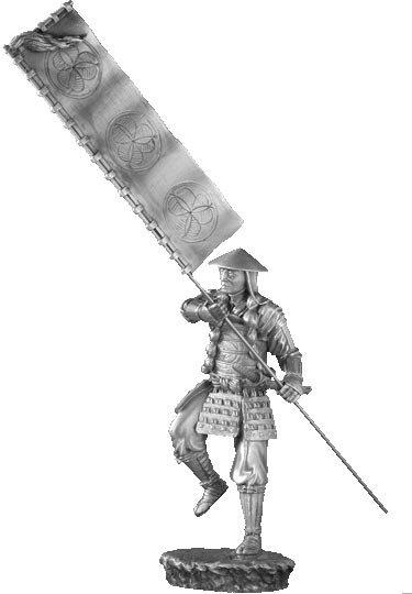 Samurai with Sashimono - Les Etains Du Graal