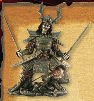 Samurai with two katanas