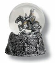 Snow globe with knight