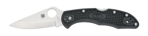 Spyderco Delica 4 FRN Plain Edge Folding Knife
