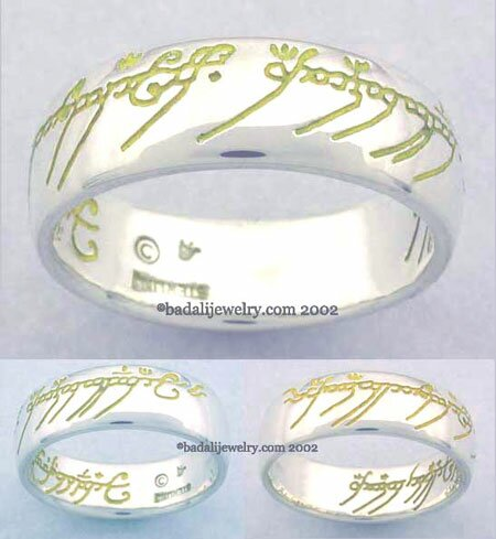 Sterling Silver The One Ring Yellow