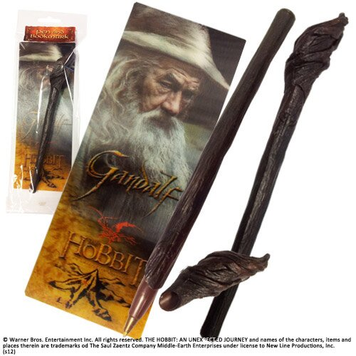 The Hobbit Pen & Bookmark Gandalf Noble Collection