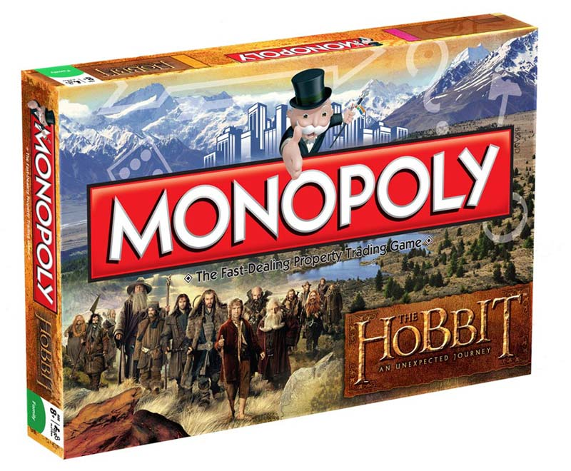 The Hobbit Unexpected Journey Board Game Monopoly English Version