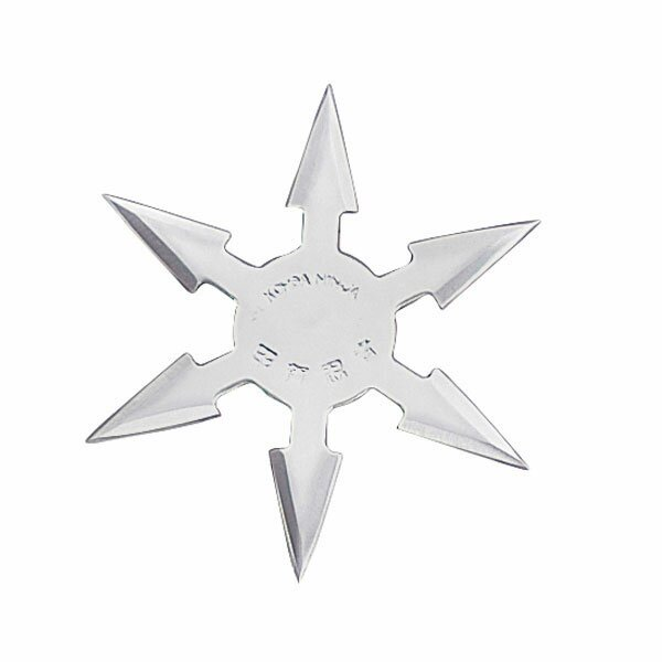 Throwing Star 6Pt SS 4'' w/pouch