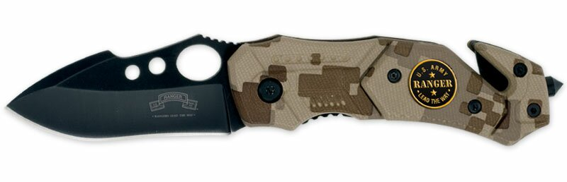 USARA Rescue Small Camo Assisted-Open Folding Knife