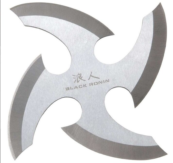United Cutlery Black Ronin Throwing Star Stainless