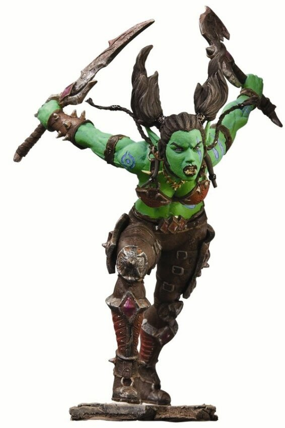 World of Warcraft Series 7 Action Figure Orc Rogue Garona Halforcen