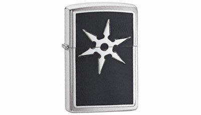 ZIPPO Lighter 6 Point Throwing Star Emblem