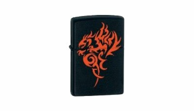 ZIPPO Lighter Hidden Dragon Black