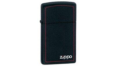 ZIPPO Lighter Slim - Black Matte w/logo and Border